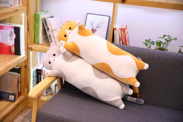 длинный кот игрушка подушка